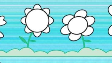 Primavera! Conta e colora